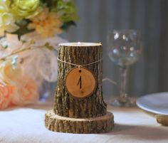 12 Rustic Table Numbers  Tree Branch Table Numbers by GFTWoodcraft