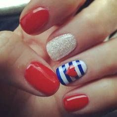 Nail ideas for Fourth of July. ❤️