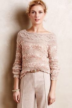 Handknit by Dollie Confetti Darling Pullover #anthroregistry