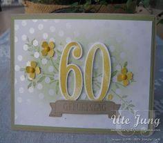 """Karte zum 60. Geburtstag mit dem Stempelset """"So viele Jahre"""""""