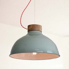 Twisted Pendant Lamp in Green