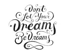 Dreams Be Dreams by Christopher Vinca, via Behance Pretty Letters, Pretty Words, Cool Words, Types Of Lettering, Hand Lettering, Tool Design, Web Design, Graphic Design, Hard To Concentrate