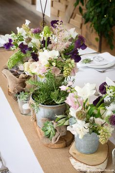 Natural / Garden flower design by The Wilde Bunch. Bringing the heady scents of cottage garden flowers to the top table at Cripps Barn in The Cotswolds Cripps Barn Wedding, Barn Wedding Venue, Rustic Wedding, Barn Wedding Flowers, Stone Barns, Natural Garden, Growing Plants, Flower Designs, Wedding Styles