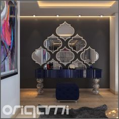 Origami Modern Masif Mobilya | INTERIOR | Cam Ayak Dresuar