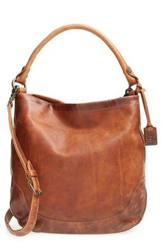 2de9ec1ba21d Frye  Melissa  Washed Leather Hobo Brown Bags