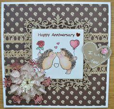 Penny Black Anniversary card x