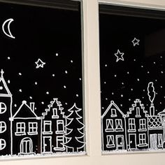 Christmas / winter pots – SIMPLY MADE by ALMA You are in the right place about christmas fondos Here we … Christmas Doodles, Christmas Home, Christmas Holidays, Christmas Window Decorations, Christmas Window Display, Theme Noel, Window Art, Diy Weihnachten, Christmas Crafts