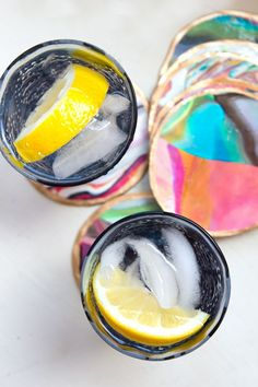 These are super cool! I saw these in one of Colleen Ballinger's (Miranda Sings) videos. | How to: Marble Coasters