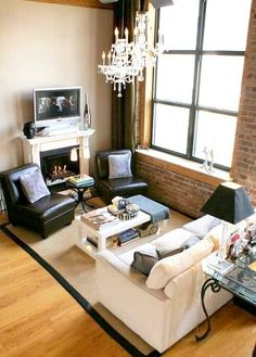 How To Arrange Furniture In A Small Living Room Small Living Room Layout, Narrow Living Room, Living Room Images, Small Apartment Living, Small Room Design, Living Area, Apartment Furniture Layout, Arranging Bedroom Furniture, Small Living Room Furniture