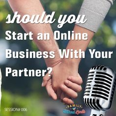 In this episode we discuss the potentially delicate topic around starting an online business with your partner or spouse.  We give you some practical areas to look into before jumping into something new.  We've worked together on our business for many years and share some of our own insight and experiences in this episode.  Enjoy!