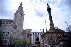 Soldiers and Sailors Monument on Public Square
