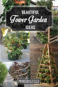 27 Ideas Awesome On How To Build  Tower Garden | DIY Vertical Gardening by Pioneer Settler at http://pioneersettler.com/vertical-tower-garden-for-homesteading/