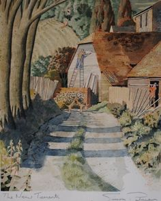 'The New Tenants' by Simon Palmer (watercolour, ink & gouache)