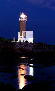 #Lighthouse at night in #Uruguay http://dennisharper.lnf.com/