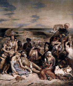 Eugene Delacroix. Massacre at Chios. 1824