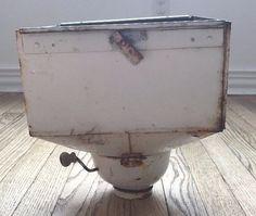 Antique Vintage Hoosier Cabinet Flour Bin Working Sifter with Cap