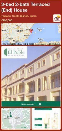 3-bed 2-bath Terraced (End) House in Teulada, Costa Blanca, Spain ►€195,000 #PropertyForSaleInSpain