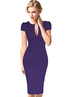 VfEmage Womens Sexy Elegant Floral Flower Lace Party Cocktail Bodycon Dress 2621 PUP 14 ** Want to know more, click on the image.