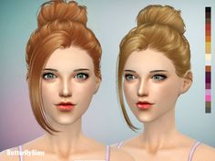 Butterflysims: Up bun hairstyle 060_2 • Sims 4 Hairs