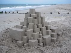 The Sandy Beach Architecture of Calvin Seibert  http://www.thisiscolossal.com/2015/07/the-sandy-beach-architecture-of-calvin-seibert/