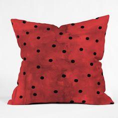 Georgiana Paraschiv Flamenco Dots Throw Pillow   DENY Designs Home Accessories