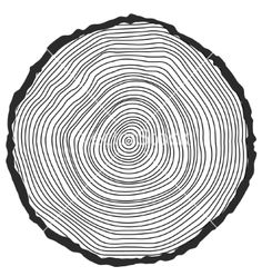 Conceptual background with treerings vector