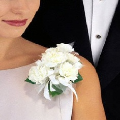 White Mini Carnation Corsage