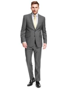 Big & Tall Grey Tailored Fit Suit | M&S