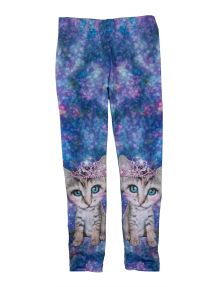 Tickled Pink Kitten Tiara Print Legging product photo