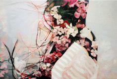 double exposure painting series by pakayla biehn