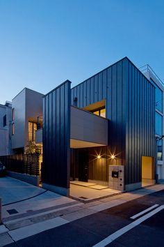プライバシー性の高い開放的なリビング空間・間取り(愛知県名古屋市)   注文住宅なら建築設計事務所 フリーダムアーキテクツデザイン
