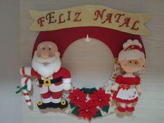 Enfeite de porta casal Noel