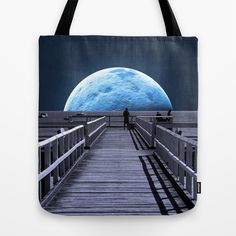 0e501f8a2ed3 Once in a Blue Moon tote bag . . . splendid artwork by Donuts Blue Moon