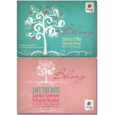 Shabby chic designed Invitation and logo for a Women's Conference (avizadesign.com)