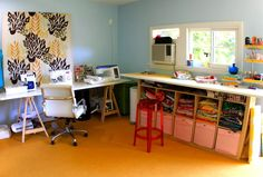 craft area redo ideas from Prudent Baby