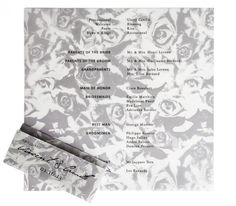 Devoir Collection / Ceremony Program / Floral Printed Vellum / Elegant & Unique