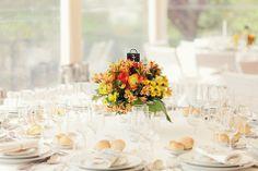 real wedding: blue, yellow & orange floral spring wedding by brancoprata {diana & tiago}