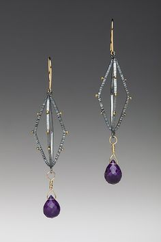 Lantern Earrings by Anna Tai: Gold Silver & Stone Earrings available at www.artfulhome.com