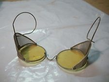 Lot A Antique Driver Racing Pilot or  Shooter Colored Safety Goggle Glasses