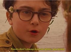 Moonrise Kingdom ... flowers in your hair: poems don't always have to rhyme you know