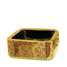 """Gold Coating With Flower Decor Porcelain Wash Basin Ceramic Countertop Bathroom Sink $417.25 - Https://Goo.Gl/Q7Yw2V Unique Mildlyinteresting Fixture Luxury Materials Icon2 Best Supplies House Designer Home Construction Contractor Remodeling Forsale Material: Ceramic Processing: Mosaic Gold Faucet Mount: No Hole Type: Countertop Sinks Capacity: 12L Special Application: Bathroom Sink Basin Shape: Square Size: 41X41X17Cm <a href=""""http://remodelstl.org"""" alt=""""St Louis Construction""""> <h2>St Louis…"""