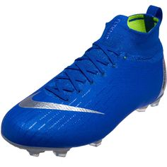 9b17d082b Nike Mercurial Superfly 6 Elite FG – Youth – Racer Blue Metallic  Silver Black Volt