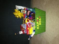 Boyfriend birthday basket