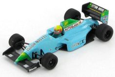 Leyton-House-March-1990-Maurizio-Gugelmin-1-43-Onyx Spark Models, Vintage Models, F1, Diecast, Blue Green, 1990, March, French, House