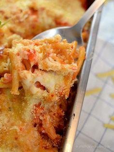 Makkaroni-Auflauf vegetarisch mit Tomate & Käse - Stilettos & Sprouts