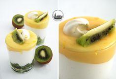 Coppette con Lemon Curd, Yogurt e Kiwi