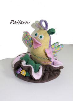 PATTERN PDF Snuggle Bird Chick Nest & Eggs by BecomingBearsETC, $9.00