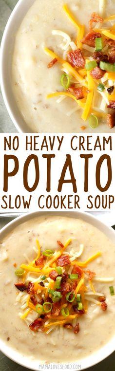 NO CREAM - NO GLUTEN --- this came out AMAZING!!!    crock pot baked potato soup