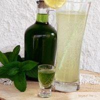 menta likőr Cocktail Drinks, Alcoholic Drinks, Cocktails, How To Make Drinks, Kitchen Aprons, Frappe, Milkshake, Liquor, Vodka