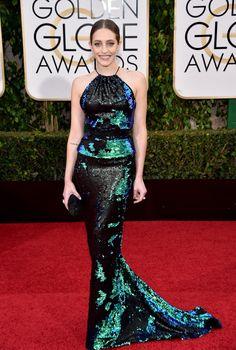 Carly Chaikin in Coomi jewelry 2016 Golden Globes